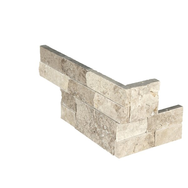 6 x 18 Travertine Splitface Tile in Beige by MSI