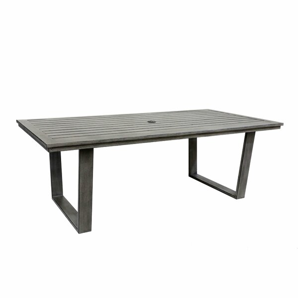 Simge Aluminum Dining Table by Latitude Run