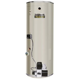 COF-455A Commercial Tank Type Water Heater Oil Fired 75 Gal Lime Tamer 455000 BTU Input