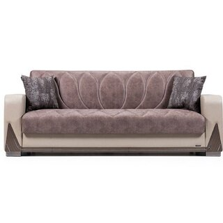 Bugatti Convertible Sleeper Sofa, Red/White by Orren Ellis SKU:ED517671 Guide
