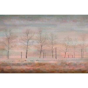 'Pink Horizon' by Parvez Taj Painting Print on Wrapped Canvas by Parvez Taj