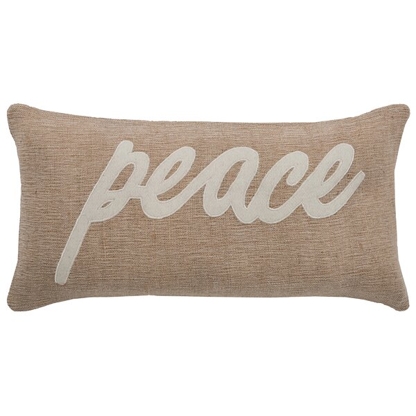 Peace Lumbar Pillow by Rizzy Home