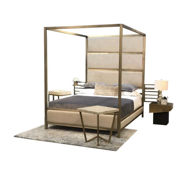 Drayton Upholstered Storage Canopy Bed By Everly Quinn by Everly Quinn #1