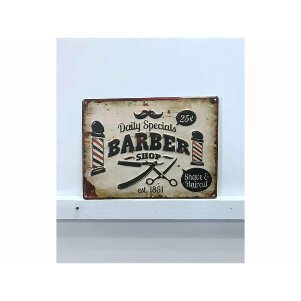 Barber Shop Vintage Metal Wall Décor by Williston Forge