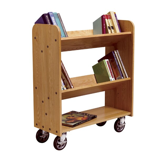 Mobile Series Sloped-Shelf Book Cart by Diversified Woodcrafts