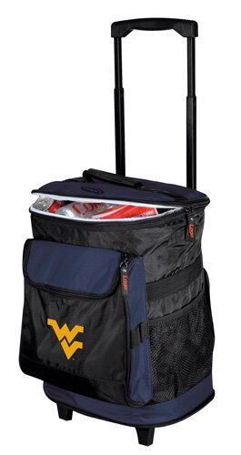 Collegiate Rolling Cooler - West Virginia by Logo Brands