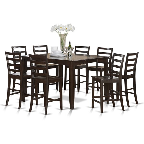 Tamarack 9 Piece Counter Height Extendable Solid Wood Dining Set by Red Barrel Studio