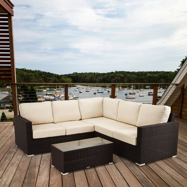 Thatcher 4 Piece Sectional Seating Group With Cushion By Brayden Studio