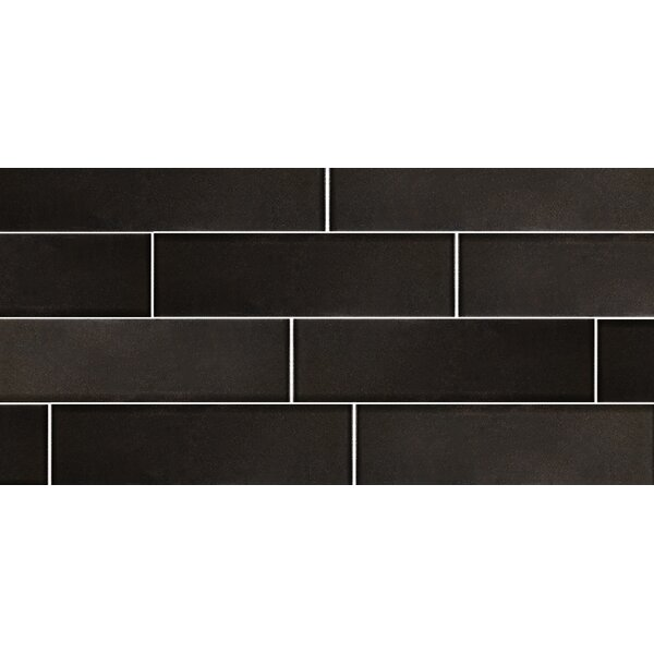 Secret Dimensions 3 x 12 Glass Subway Tile in Frosted Bronze by Abolos