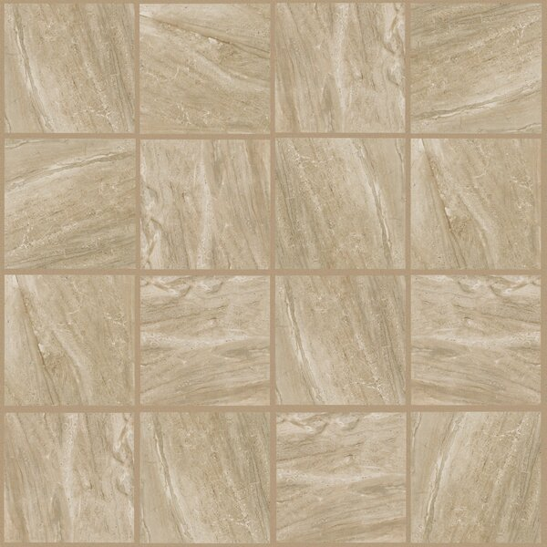 Bradwell 12 x 12 Porcelain Field Tile in Nocino Travertine by Mohawk Flooring