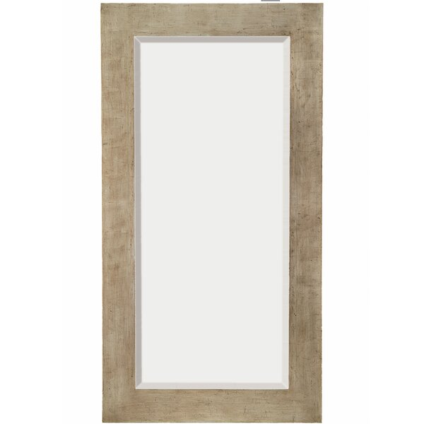Tall Rectangular Silver Sleek Beveled Glass Framed Wall Mirror by Majestic Mirror