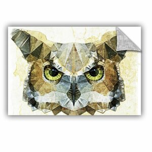 Abstract Owl Graphic Art on Canvas by Loon Peak