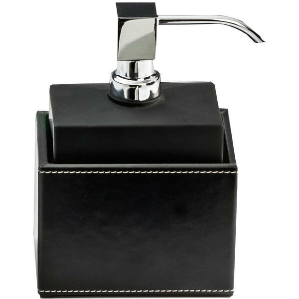 Marciniak Frosted Glass Lotion with Sythetic Leather Soap Dispenser by Latitude Run