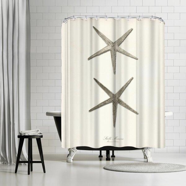 Adams Ale Greige Star Fish Shower Curtain by East Urban Home