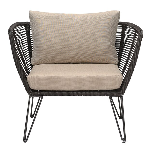 Deanne Metal and Woven Rope Barrel Chair (Set of 2) by Wrought Studio