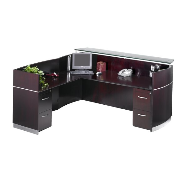Napoli Series L-Shape Reception Desk by Mayline Group