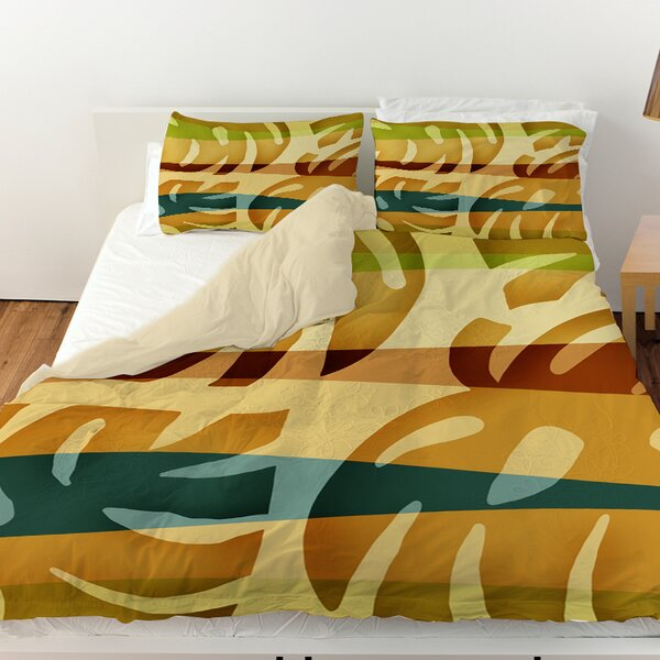 Tropical Leaf 1 Duvet Cover by Manual Woodworkers & Weavers