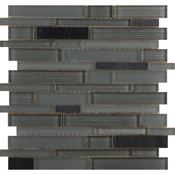 Flash 12 x 13 Glass Linear Mosaic Tile in Lambent by Emser Tile