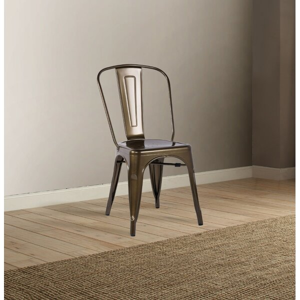 Merrell Steel Side Chair (Set of 2) by Williston Forge