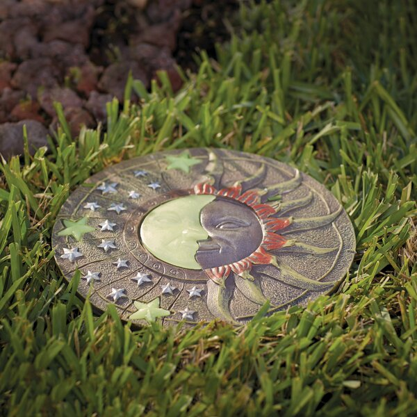 Heathcote Solar Powered Garden Stepping Stone by Alcott Hill