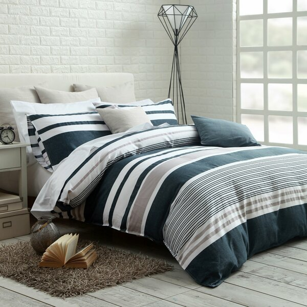 Dilworth Cotton Reversible Duvet Set by Ebern Designs