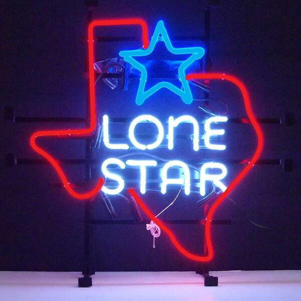 Texas Lone Star Neon Sign by Neonetics