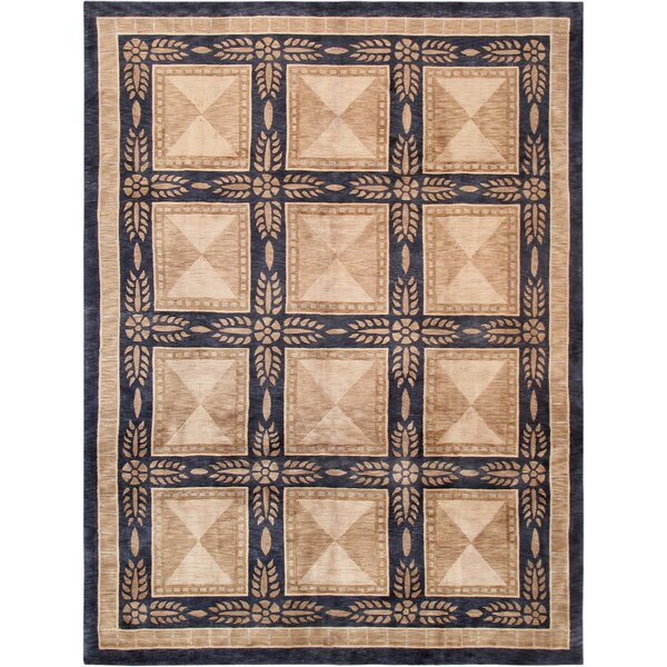 Tibetan Hand-Knotted Wool Beige/Black Area Rug by Pasargad