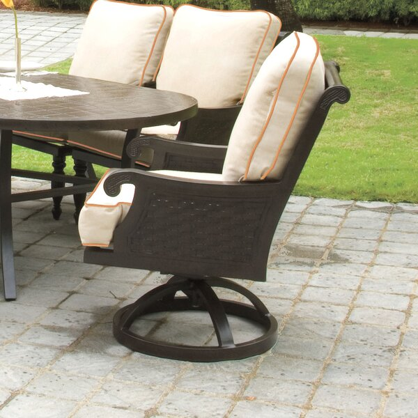 Jakarta Swivel Patio Dining Chair with Cushion by Leona