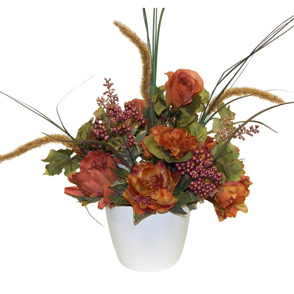 Autumn Mixed Centerpiece by Charlton Home