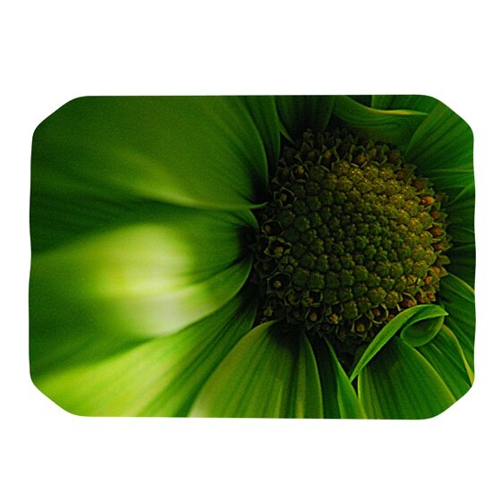 Green Flower Placemat by KESS InHouse