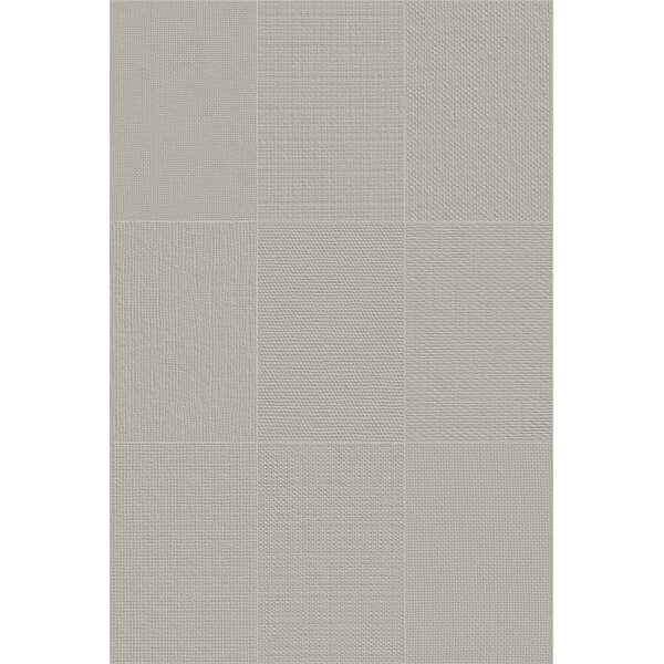 Makar Italian 4.75 x 7 Ceramic Fabric Look/Field Tile in Gray by The Bella Collection