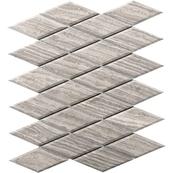 Metro Diamond 2 x 4 Marble Mosaic Tile in Gray by Emser Tile