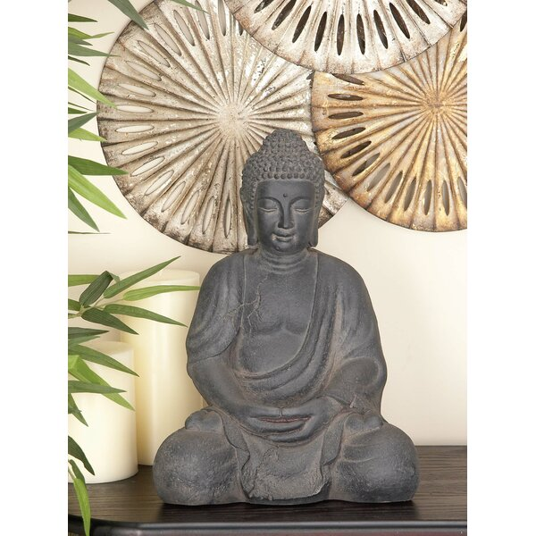 Legros Clay fiberglass Stone Buddha Figurine by World Menagerie