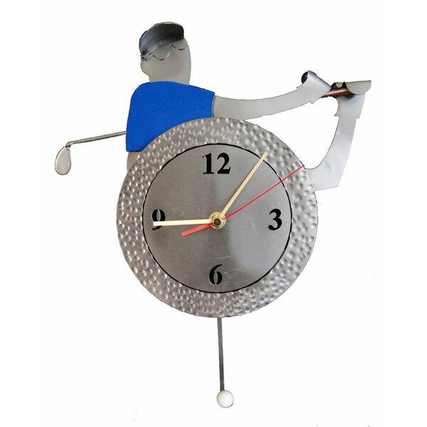 Golf  Pendulum Clock by H & K SCULPTURES