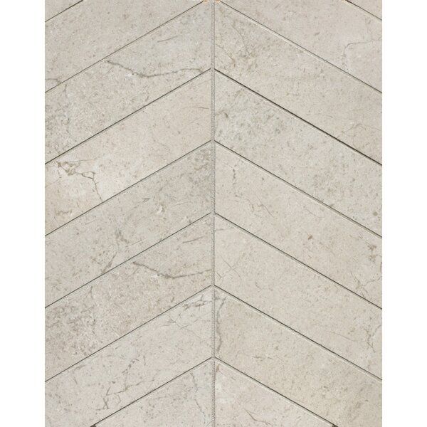 El Dorado Chevron 2 x 6 Porcelain Mosaic Tile in Rock by Grayson Martin