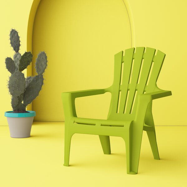 Gracelyn Plastic Adirondack Chair (Set of 2) by Hashtag Home Hashtag Home