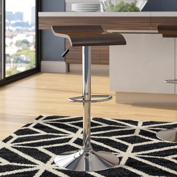 Burmeister Adjustable Height Swivel Bar Stool by Wade Logan
