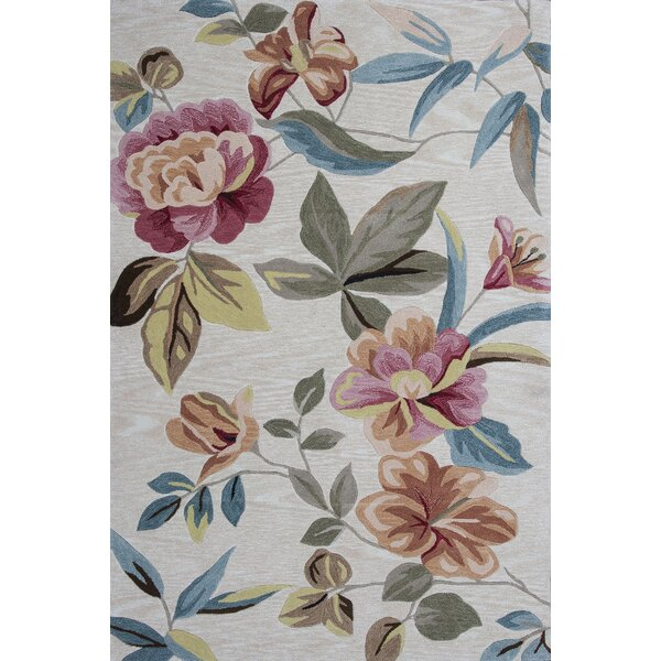 Lyman Sand Floral Area Rug by Darby Home Co