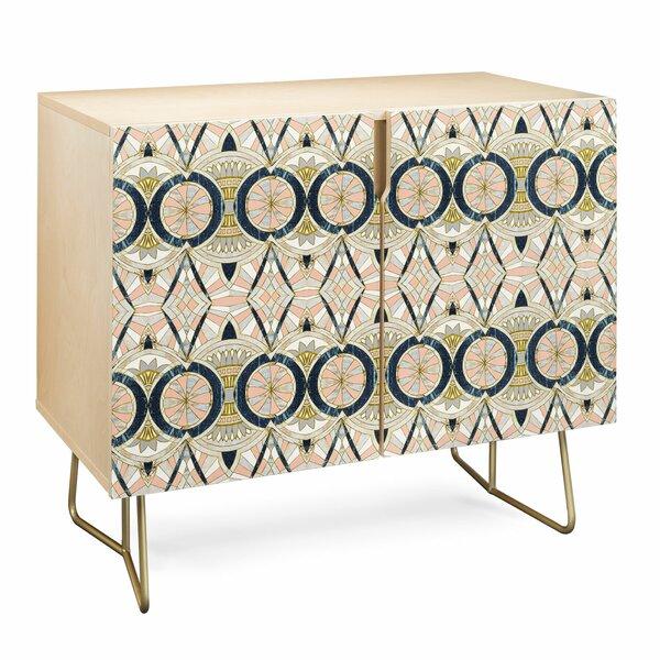 Marta Barragan Camarasa Marble Mosaic Pattern Birch Accent Cabinet by East Urban Home