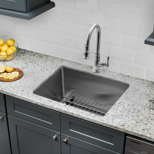 23 L x 19 W Undermount Bar Sink with Faucet and Soap Dispenser by Cahaba