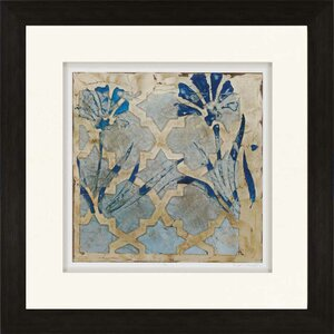 Stained Glass Indigo II by Meagher Framed Graphic Art by Paragon