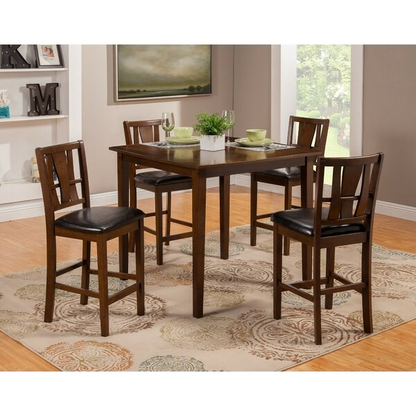 Gaskin Mango Wood 5 Piece Solid Wood Pub Table Set by Red Barrel Studio