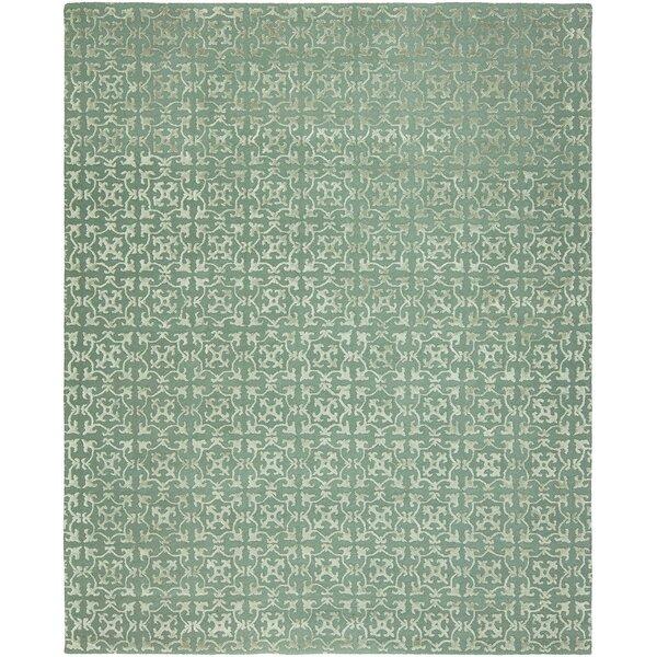 Kailani Hand-Tufted Wool Blue Area Rug by Ophelia & Co.