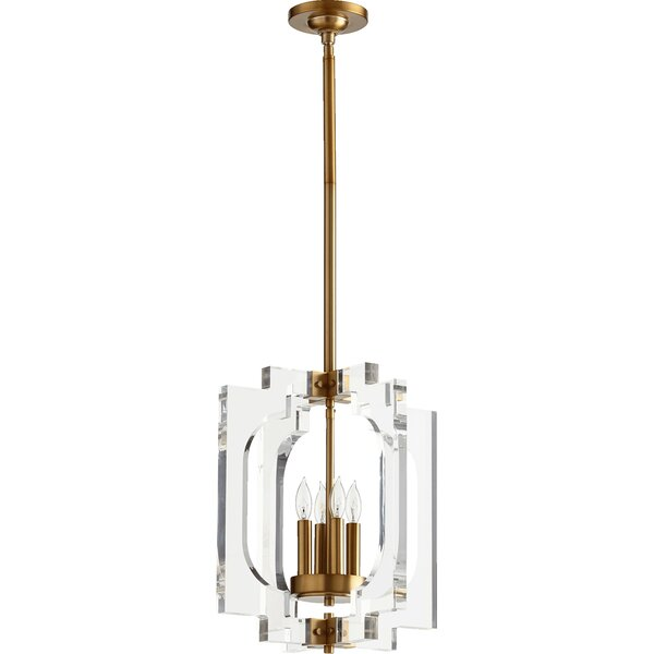 Pavan 4 - Light Unique / Statement Geometric Chandelier by Everly Quinn Everly Quinn
