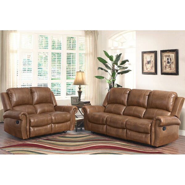 Bitter Root 2 Piece Leather Reclining Living Room Set by Darby Home Co