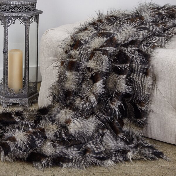 Redding Porcupine Luxury Faux Fur Throw by Everly Quinn