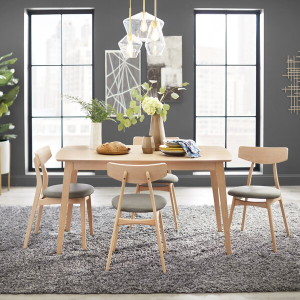 Grow 5 Piece Solid Wood Dining Set by George Oliver
