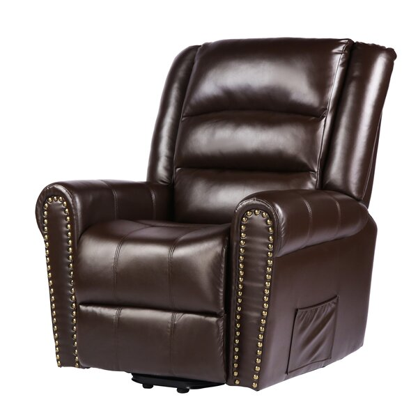 Pala Faux Leather Power Lift Assist Recliner W003263463