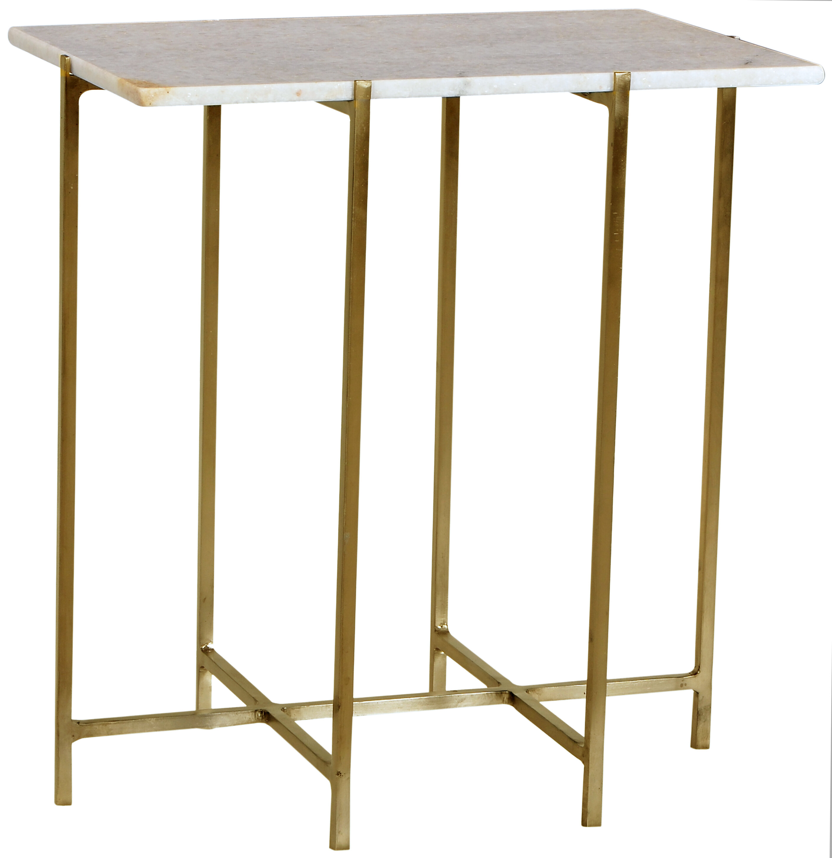 Tipton tate canton brass end table wayfair