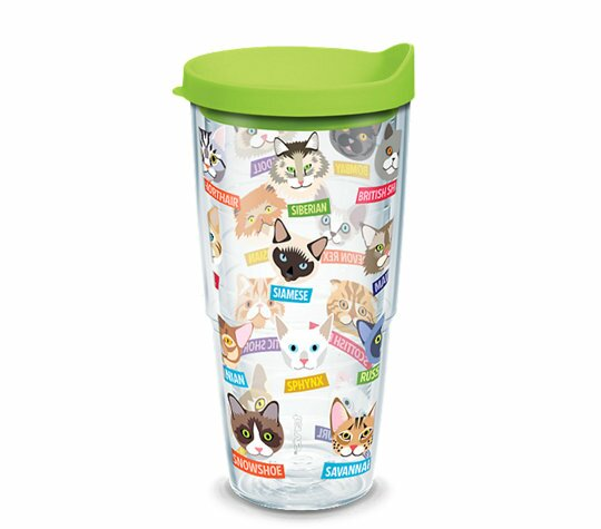 Cat Breeds 24 oz. Plastic Travel Tumbler by Tervis Tumbler